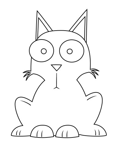 400x490 drawing a cat cartoon