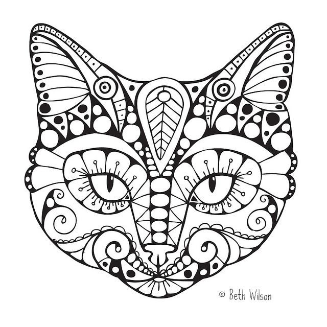 640x640 Cat Face Coloring Page Easy Cat Face Coloring Pages