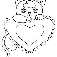 220x220 Kitten Coloring Pages, Drawing For Kids, Reading Amp Learning