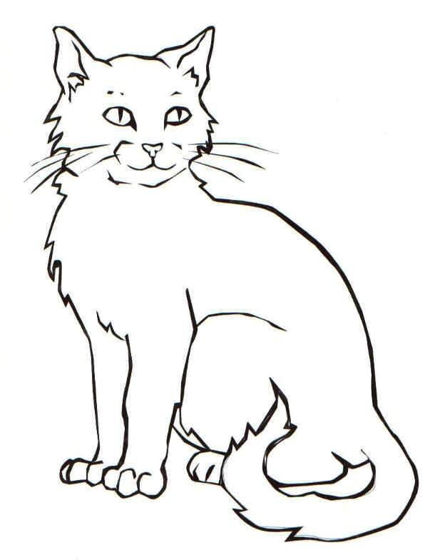 610x784 Cat Coloring Pages For Kids Online Coloring Pages