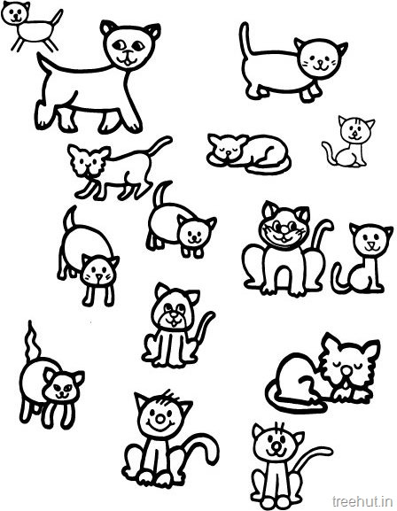 448x577 Cat Drawing And Coloring Pages For Kids