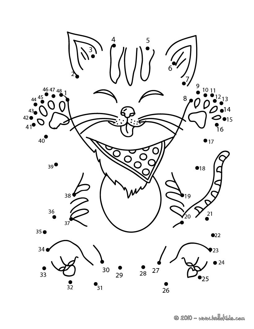 820x1060 Funny Cat Dot To Dot Game Printable Connect The Dots Game
