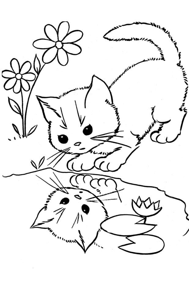 618x946 Cat Drawing Coloring Kid