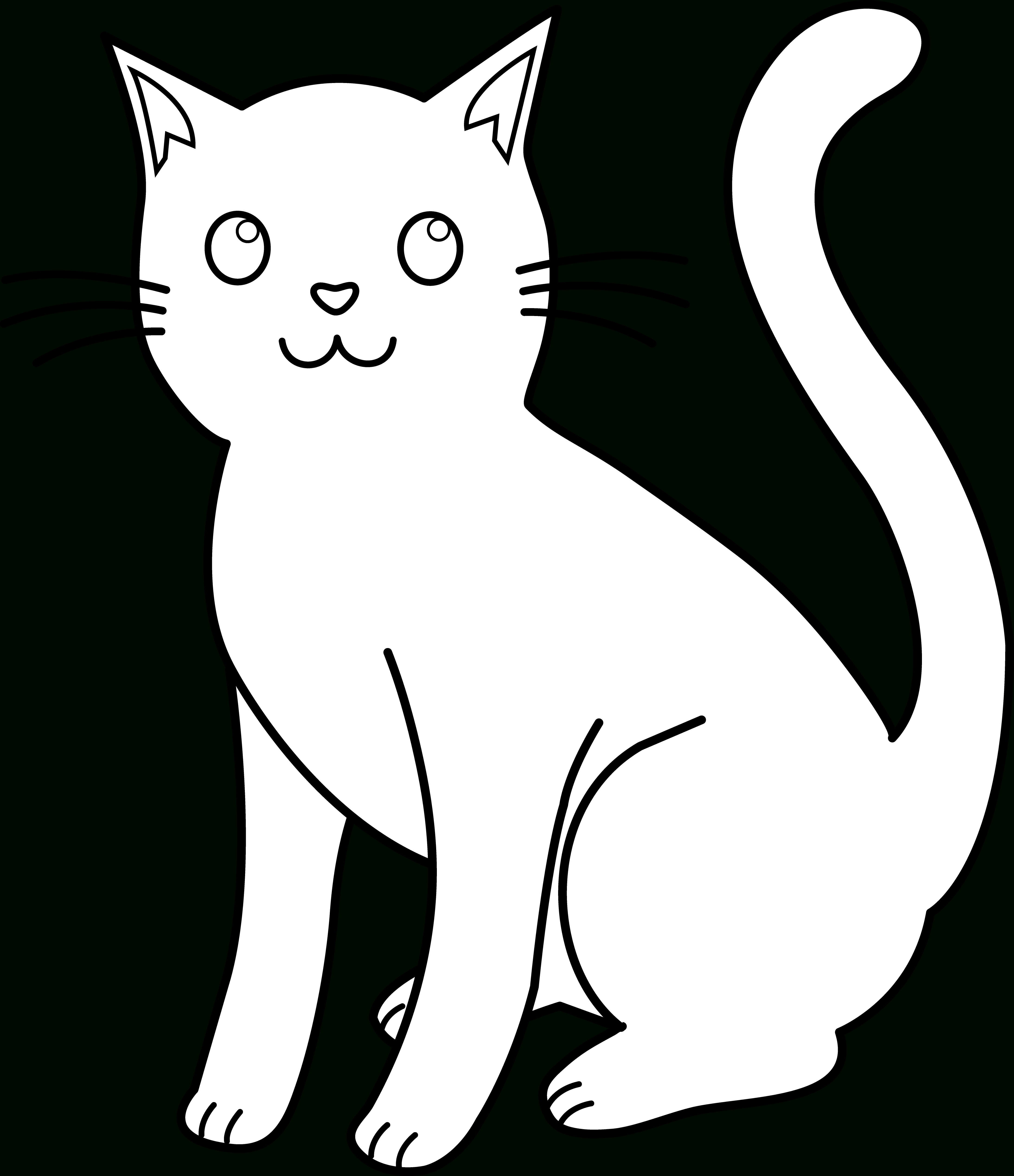Cat Drawing Outline at GetDrawings.com | Free for personal use Cat ...