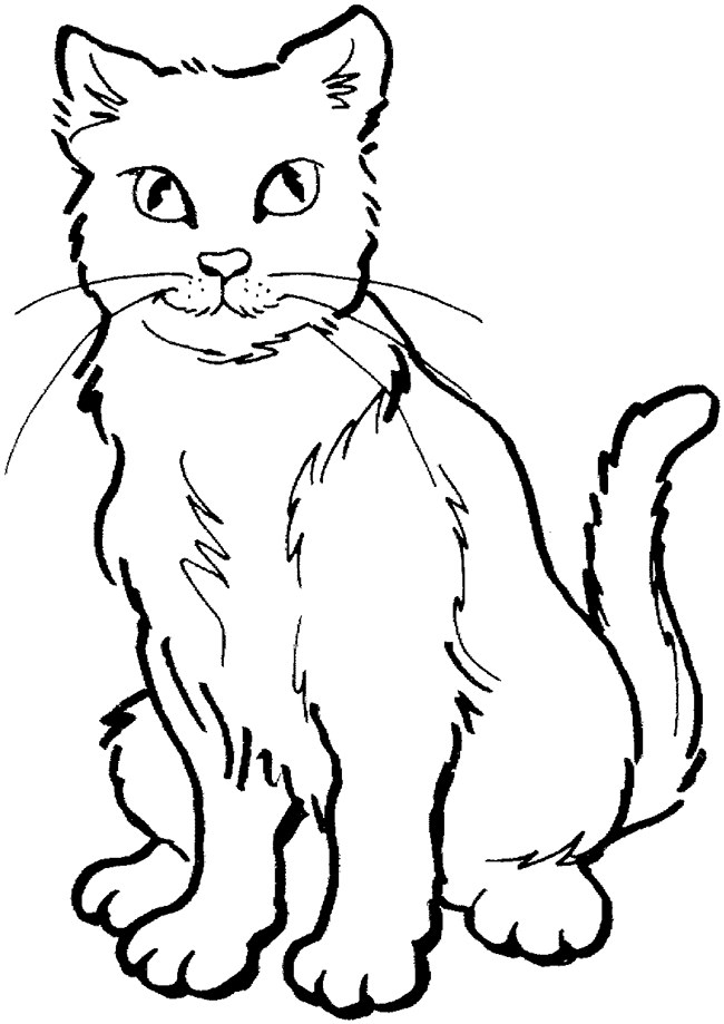 650x919 Cat Shape Template
