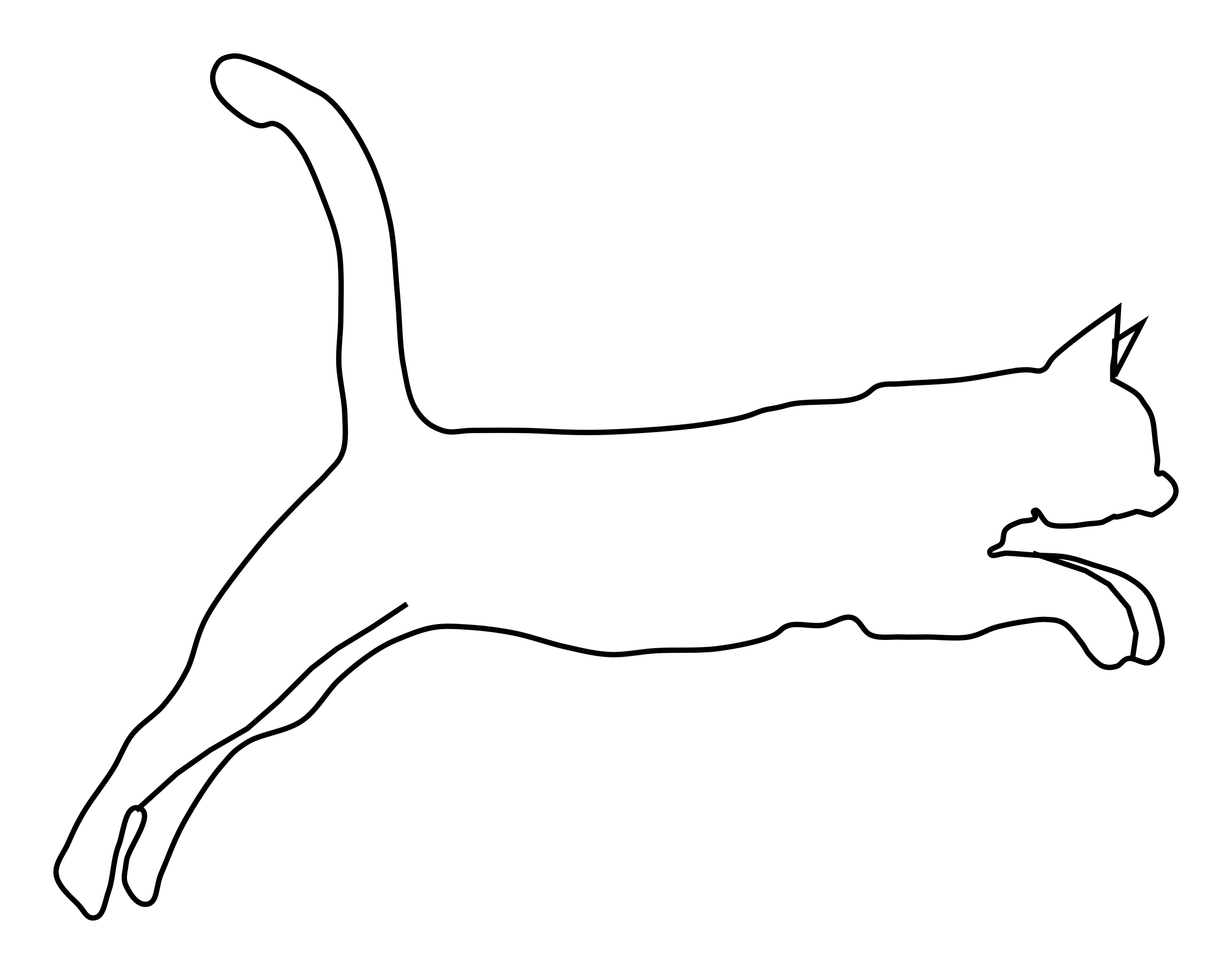 2400x1898 Outline Drawing Of A Cat Cat Outline With Of A Cat Cat Outline