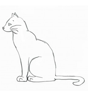 286x296 Simple Cat Outline By Darkclaws01
