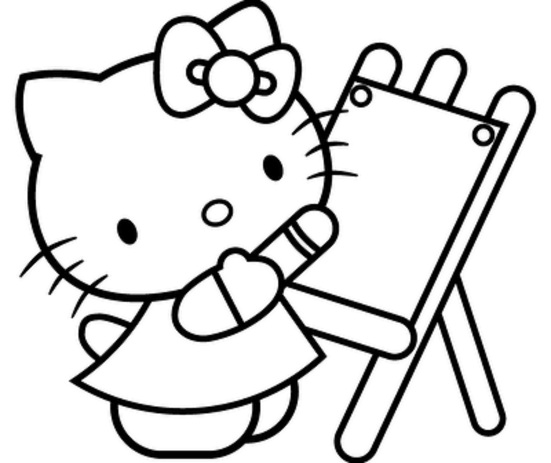 800x672 Kitty Cat Coloring Pages Online
