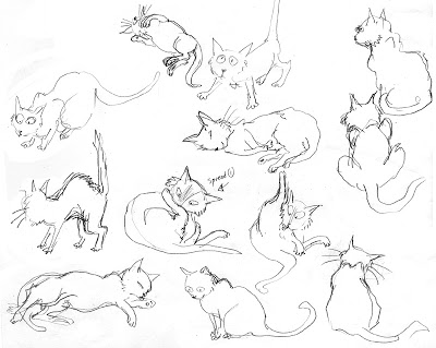 400x319 An Illustrator's Life For Me! Drawing A Cat