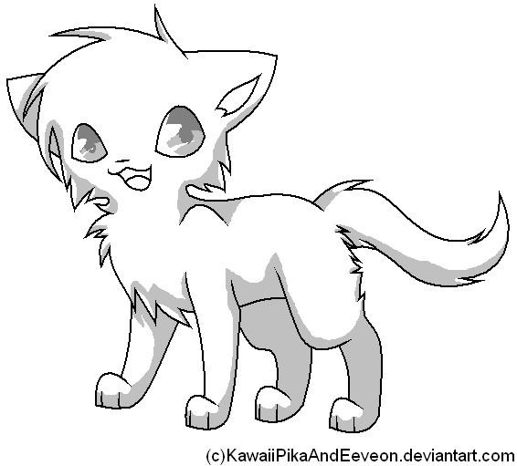 566x511 Cat Drawings Template