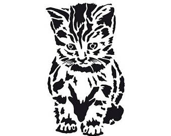 340x270 Cat Template Etsy