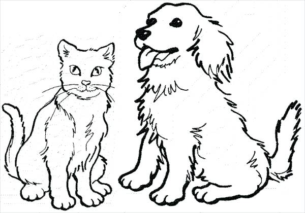 600x420 Cats And Dogs Movie Colouring Pages 9 Dog Coloring Free Premium