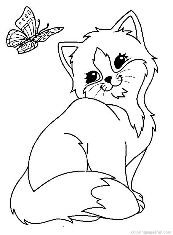 590x800 Coloring Templates For A Kitten Easy Coloring Pages Printable