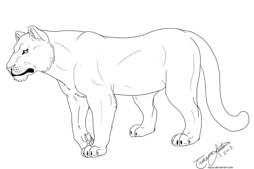 1024x683 Androgynous Big Cat Template By Myuui