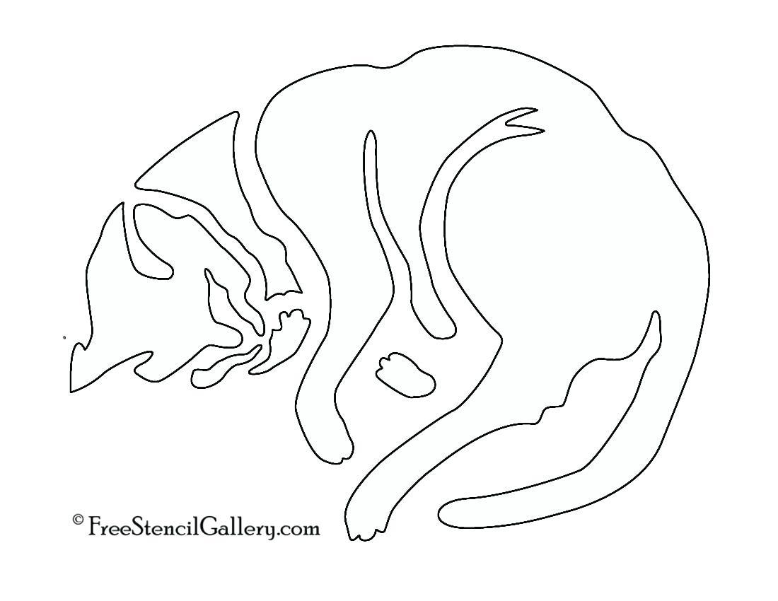 1100x850 Template Halloween Cat Template