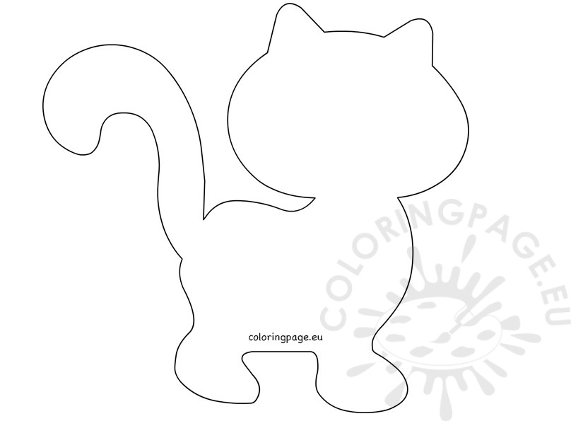 808x595 Cat Cut Out Template Coloring Page