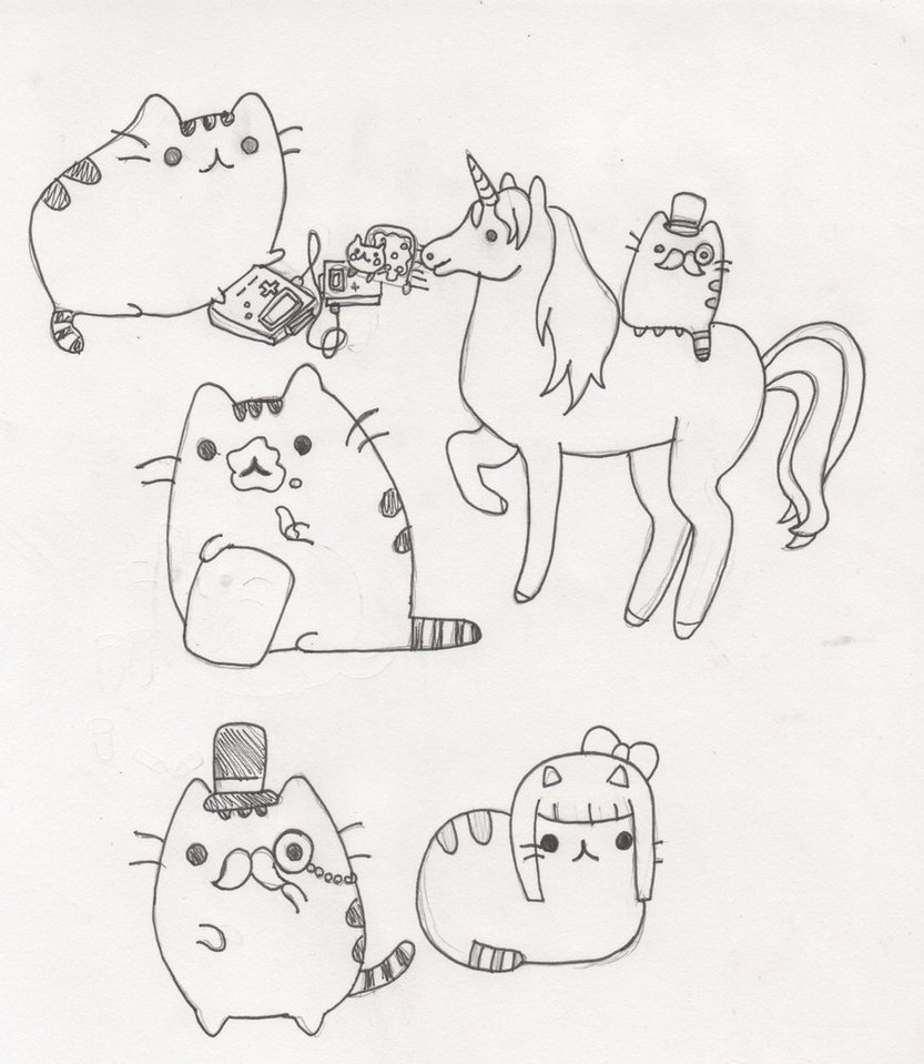 833x959 Drawing Multiple Pusheen Cats For No Reason I Was Borded