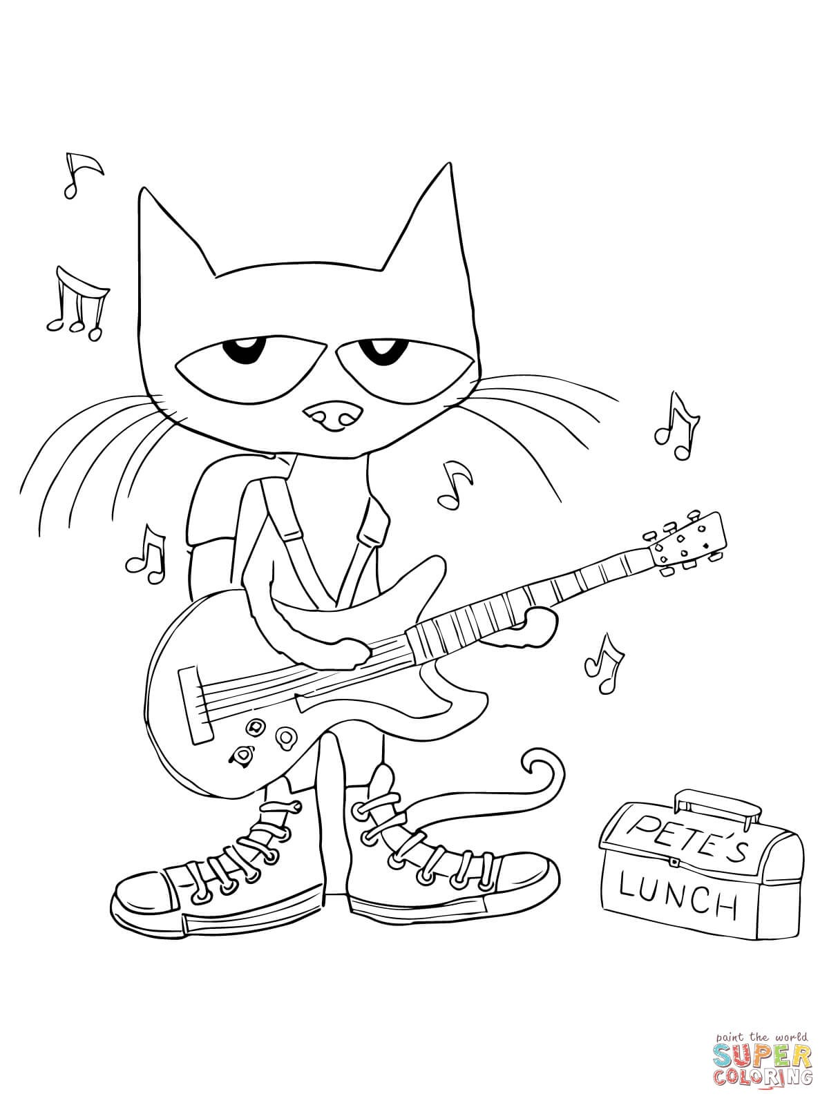 1200x1600 Pete The Cat Coloring Pages Wallpapers