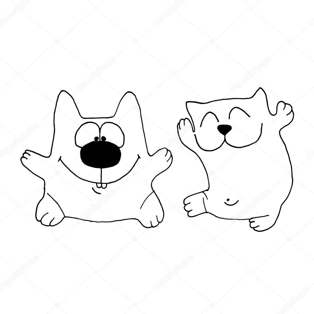 1024x1024 Vector Illustration Cat. Cat Face. Cat Icon. Vector Illustration