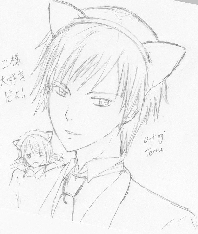 Contoh Soal Pelajaran Puisi Dan Pidato Populer Anime Cat Ears Drawing