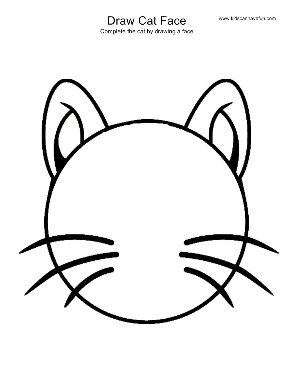 1019x1319 Simple Cat Face Drawing Draw Cat Face Activity, More Drawing Pages