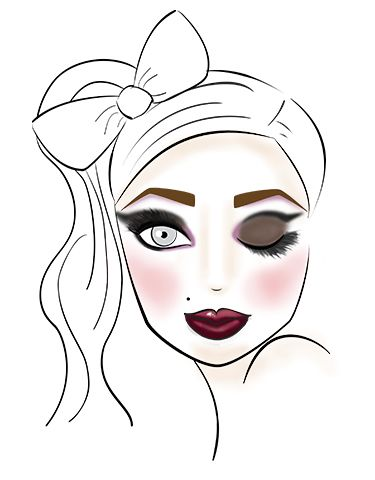 375x480 1830 Best Makeup Face Charts Images On Hair Makeup