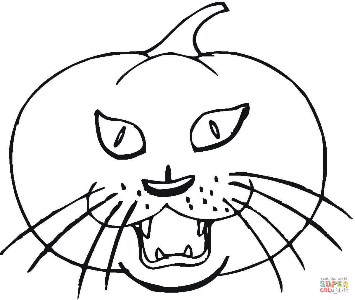 printable cat face coloring pages - photo#46