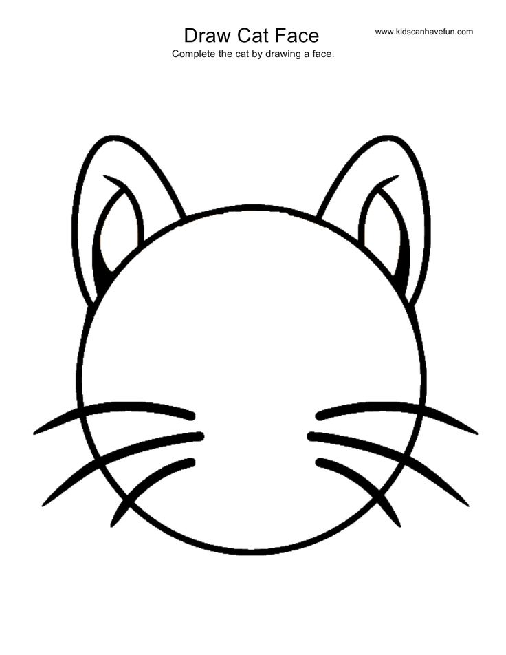 Cat Face Drawing Images