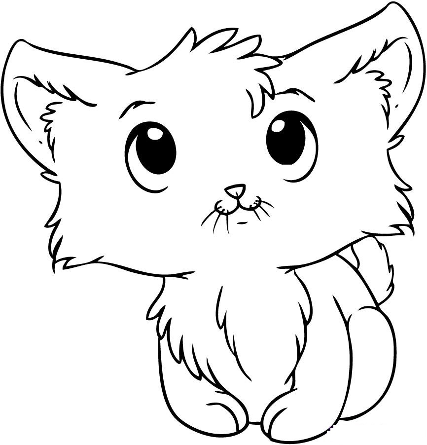 866x902 Cat Face Coloring Page Easy Cat Face Coloring Pages