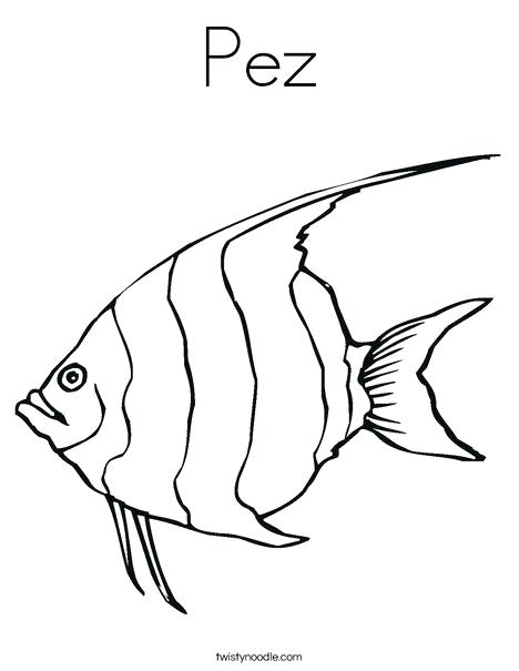 468x605 Catfish Coloring Page Angelfish Coloring Page Free Catfish