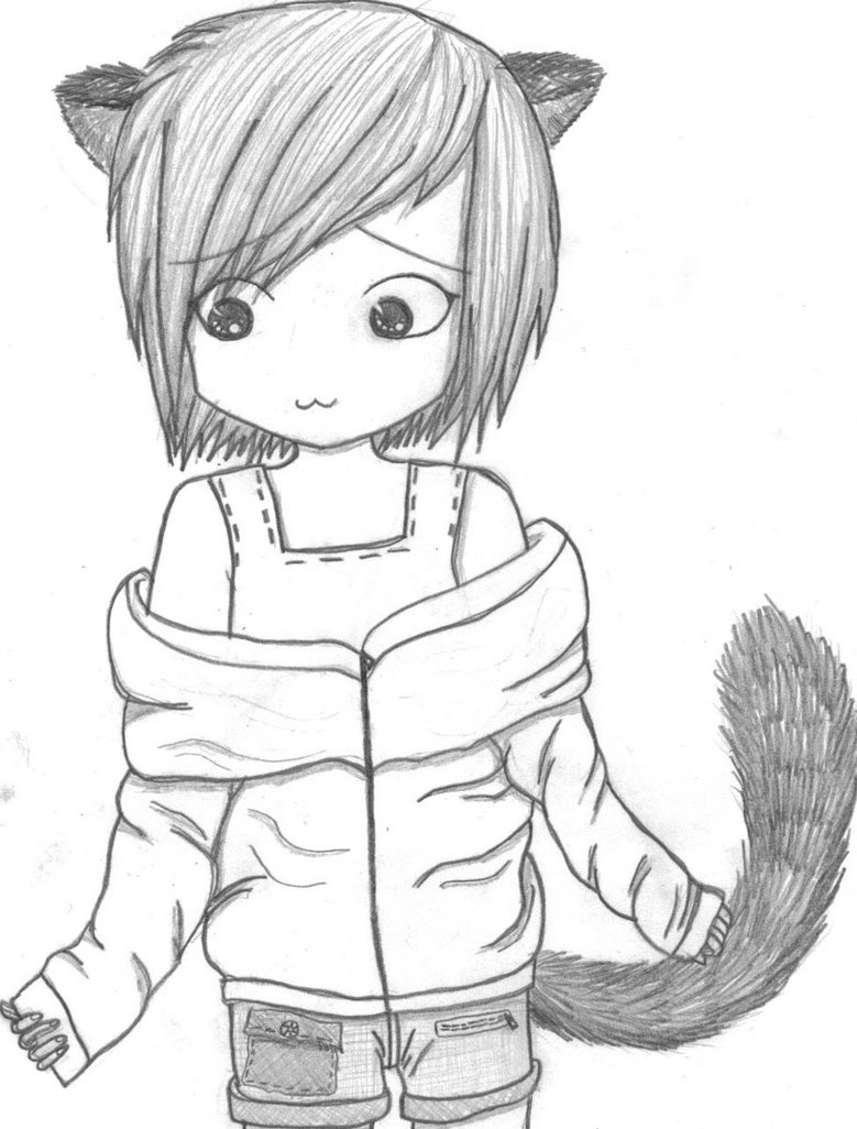Cat Girl Drawing at GetDrawings.com   Free for personal use Cat Girl ...