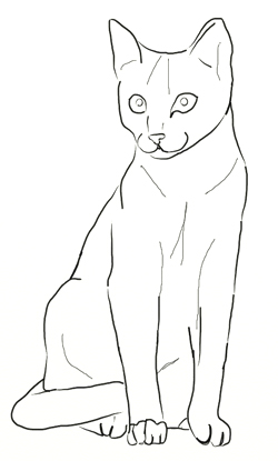 250x415 Cat Drawing Images