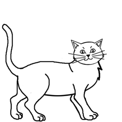250x250 Cats Drawing