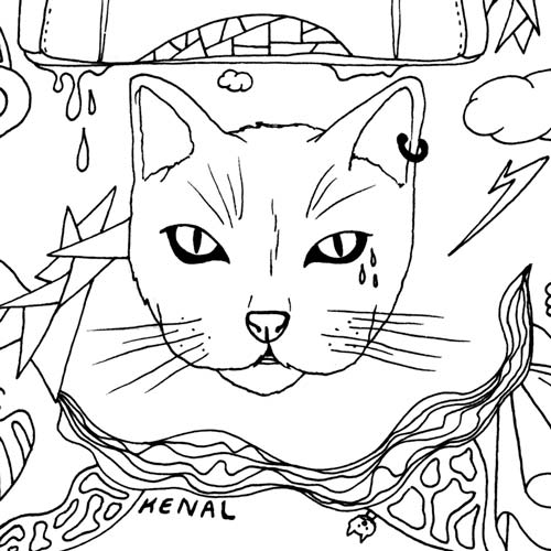 500x500 Cat Drawings Beautiful Cat Art You'Ll Love For Your Home