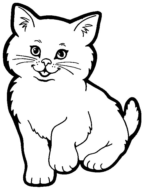 568x760 Cute Cat Coloring Pages Printable In Cure Print Draw