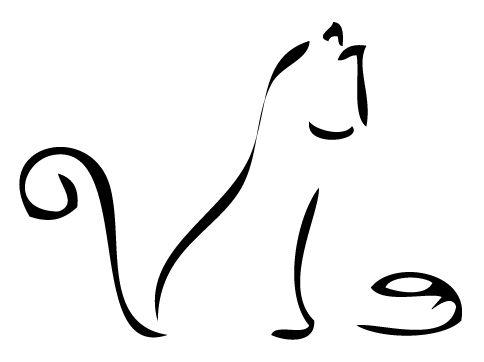 484x362 Drawn Black Cat Simple Draw