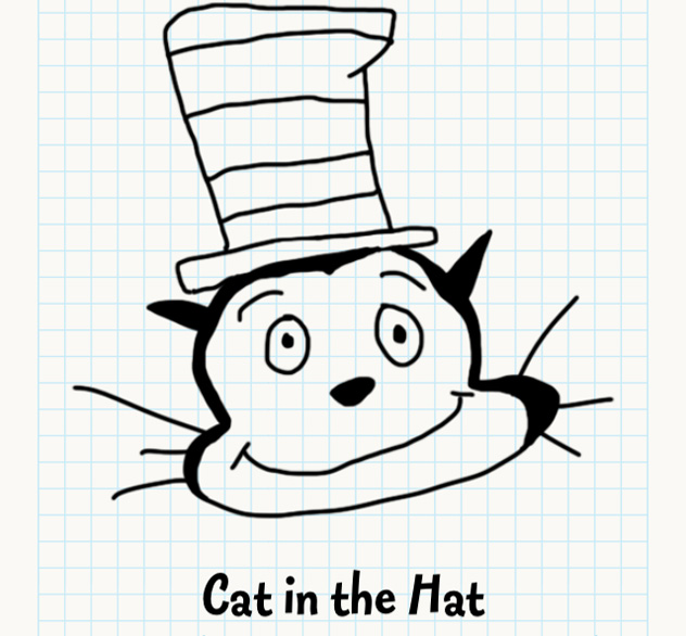 632x586 Cat In The Hat Badly Drawn Faces Answers, Walkthrough, Cheats