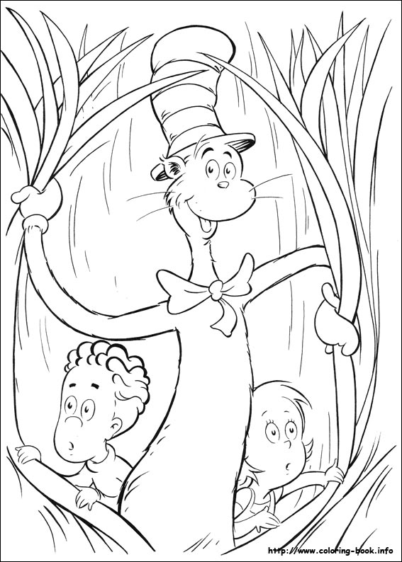 567x794 Cat In The Hat Coloring Picture