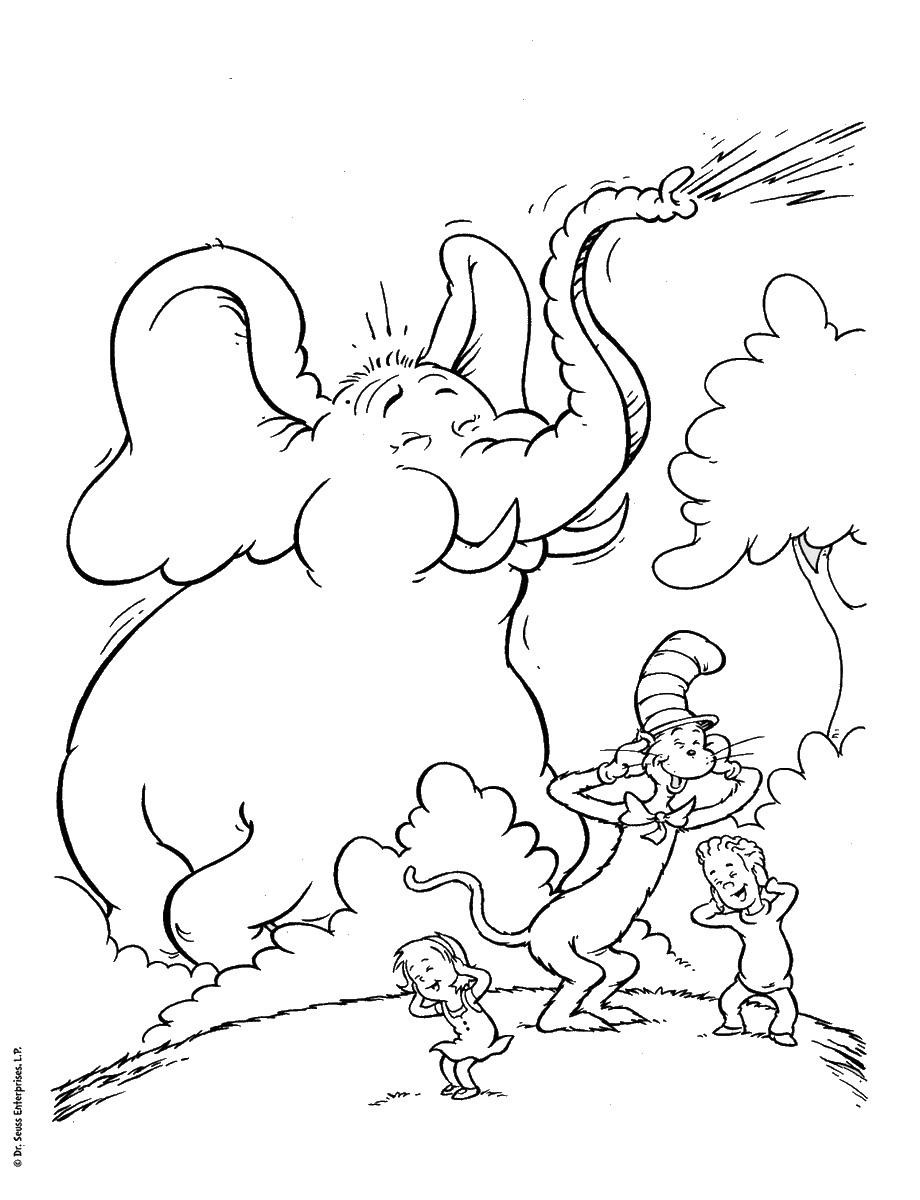 920x1200 Cat In The Hat Coloring Pages