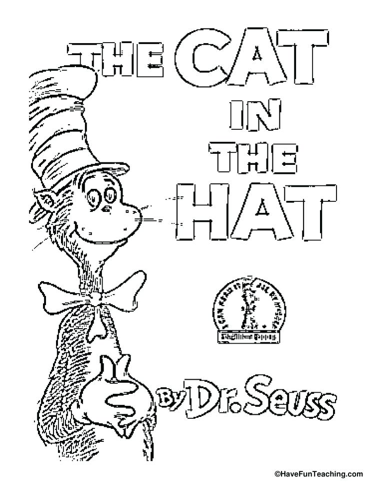 772x1000 The Cat In Hat Coloring Pages Holiday Online