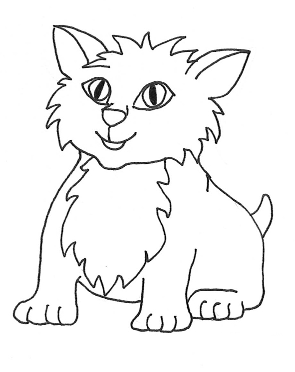 591x745 Feline Clipart Black And White