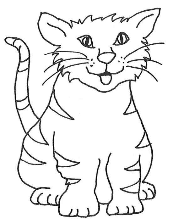 551x709 Cat Clipart Black And White Sketch Outline Collection