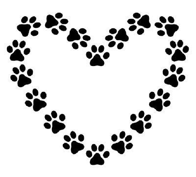400x362 Heart Shaped Paw Prints Craft Stencil Dogcatpuppykittenpet 2