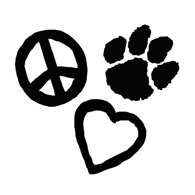640x640 15.213.9cm Dog Or Cat Love Peace Paw Print Window Decoration