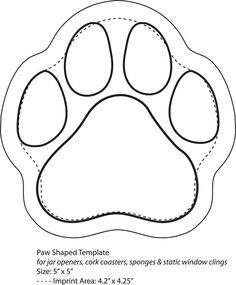 236x285 Paw Print Template Not Quite The Actual Size Of Baxter's Paw