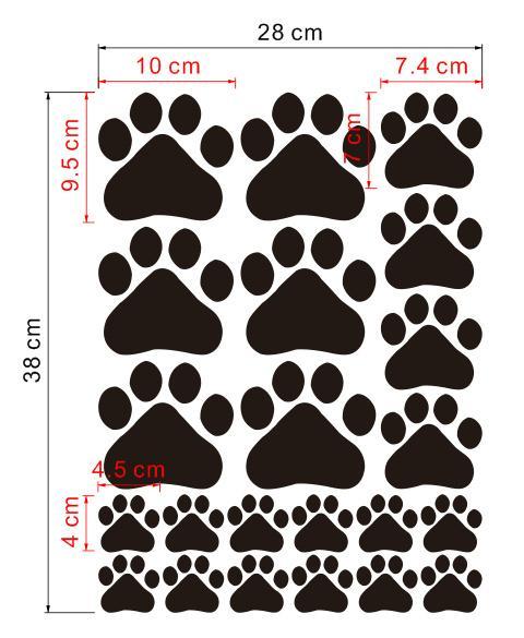 480x585 Paw Print Wall Stickers