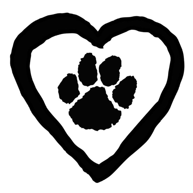 640x640 15.214.9cm Dog Or Cat Paw Prints Cartoon Creative Car Styling