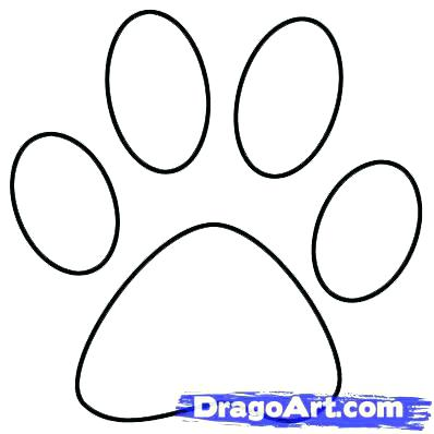 398x398 Paw Print Coloring Pages Synthesis.site