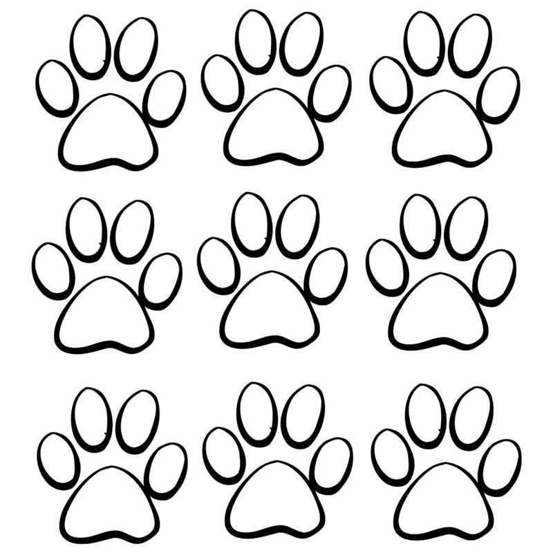 800x800 17.719.3cm Animal Dog Cat Paw Print Car Styling Decorative Decals