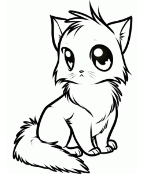 477x583 How To Draw Anime Stylish Cat Drawing Tutorial